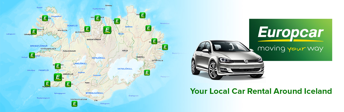Locations Holdur Car Rental Iceland 4x4 Hire Europcar Franchisee