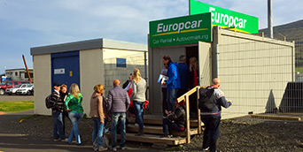 Akureyri Cruise ship  Europcar car rental location at Oddeyrartangi